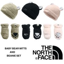 【THE NORTH FACE】フワフワ♪BABY BEAR MITTS & BEANIE SET