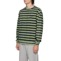 要在庫確認 【STUSSY】  STRIPED POLAR FLEECE CREW