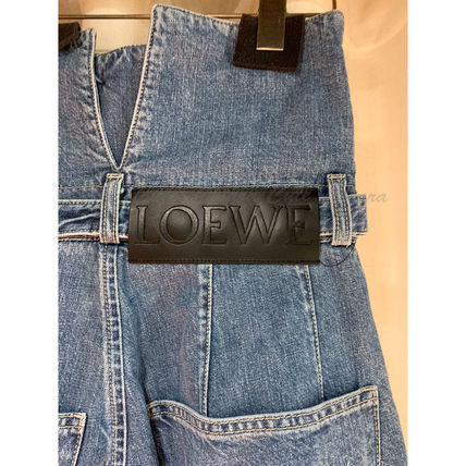LOEWE デニム・ジーパン 【19AW NEW】LOEWE_women /Belted Pleated Oversize Jeansデニム(4)