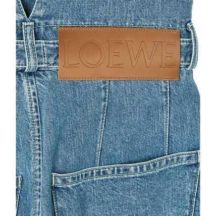 LOEWE デニム・ジーパン 【19AW NEW】LOEWE_women /Belted Pleated Oversize Jeansデニム(6)