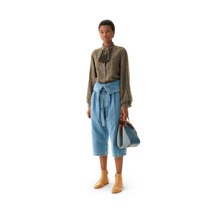 LOEWE デニム・ジーパン 【19AW NEW】LOEWE_women /Belted Pleated Oversize Jeansデニム(8)
