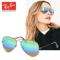 RB3025 9018C3 58mm Large Metal Aviator Rainbow レイバン