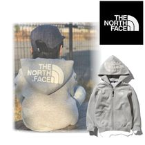 THE NORTH FACE☆国内発 キッズフルジップロゴ刺繍パーカー