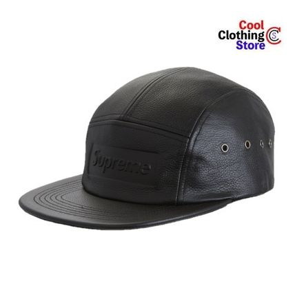 [SUPREME] LEATHER CAP 4色