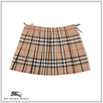 BURBERRY CHILDREN☆VINTAGE CHECK COTTON PLEATED SKIRT