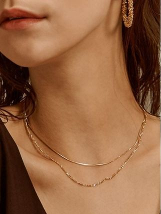 Hei ネックレス・ペンダント 日本未入荷Heiのtwo lines chain necklace 全2色(8)