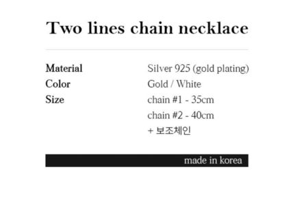 Hei ネックレス・ペンダント 日本未入荷Heiのtwo lines chain necklace 全2色(7)