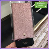 【kate spade】キラキラglitter magnetic folio★X/XS/XS Max/XR