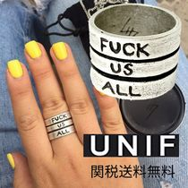 UNIF Clothing(ユニフ) 指輪・リング 関税送料無料*HELTER SKELTER BY UNIF*Fuck Us All '19リング