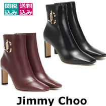 関税込☆JIMMY CHOO☆Minori 85 leather ankle bootsブーツ