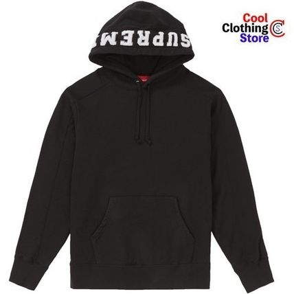 [SUPREME] PANELED HOODED SWEATSHIRT BLACK