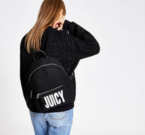 Juicy Couture☆ブラックロゴプリントバックパック