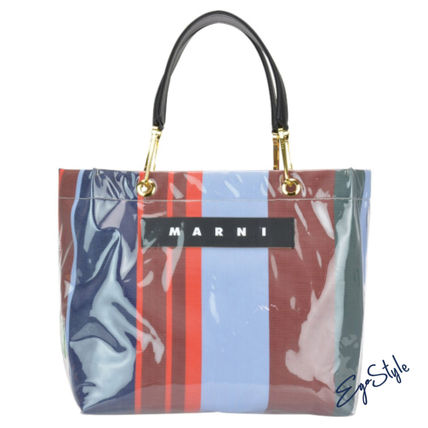 SHOPPING BAG LOGO STRIPED