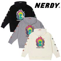 ★NERDY★韓国 フーディ Character Overfit Pullover Hoodie 3色
