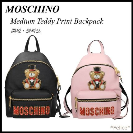 Moschino バックパック・リュック 【MOSCHINO】Medium Teddy Print Backpack 関税/送料込