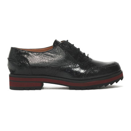 JIL SANDER NAVY シューズ・サンダルその他 JIL SANDER NAVY☆【完売間近】EMBOSSED LEATHER BROGUES /black