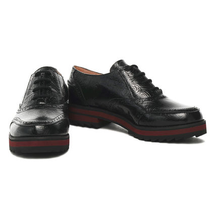 JIL SANDER NAVY シューズ・サンダルその他 JIL SANDER NAVY☆【完売間近】EMBOSSED LEATHER BROGUES /black(2)