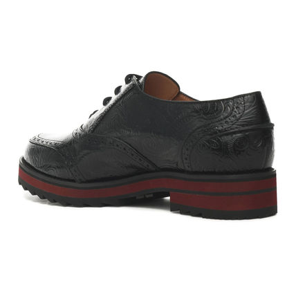 JIL SANDER NAVY シューズ・サンダルその他 JIL SANDER NAVY☆【完売間近】EMBOSSED LEATHER BROGUES /black(3)
