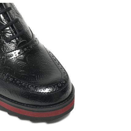 JIL SANDER NAVY シューズ・サンダルその他 JIL SANDER NAVY☆【完売間近】EMBOSSED LEATHER BROGUES /black(4)