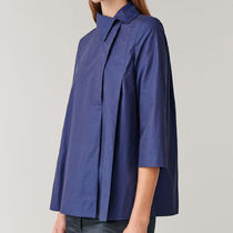 COS COTTON SHIRT WITH OFF-CENTRE COLLAR