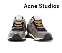 Acne Studios☆Joriko suede and PVC-paneled woven sneakers