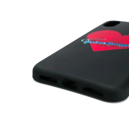 Palm Angels スマホケース・テックアクセサリー Palm Angels Black safety pin heart iPhone X case(2)
