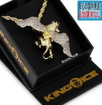 LA発ストリート☆King Ice☆HipHopペンダント Flying Lion King