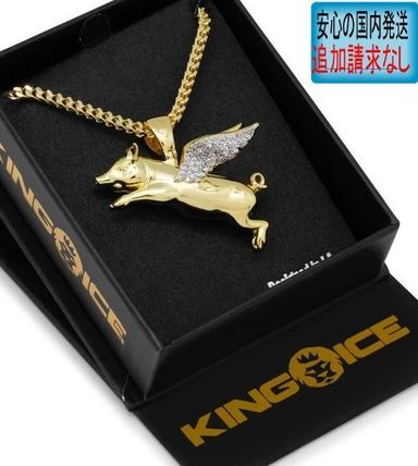 King Ice ネックレス・チョーカー LA発ストリート☆King Ice☆HipHopペンダント Flying Pig