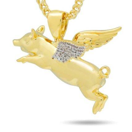 King Ice ネックレス・チョーカー LA発ストリート☆King Ice☆HipHopペンダント Flying Pig(2)