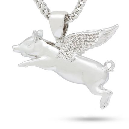 King Ice ネックレス・チョーカー LA発ストリート☆King Ice☆HipHopペンダント Flying Pig(3)