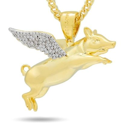 King Ice ネックレス・チョーカー LA発ストリート☆King Ice☆HipHopペンダント Flying Pig(5)