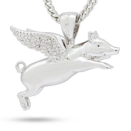 King Ice ネックレス・チョーカー LA発ストリート☆King Ice☆HipHopペンダント Flying Pig(6)