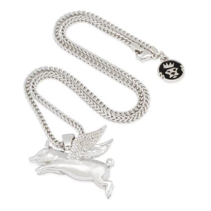 King Ice ネックレス・チョーカー LA発ストリート☆King Ice☆HipHopペンダント Flying Pig(9)