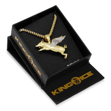 King Ice ネックレス・チョーカー LA発ストリート☆King Ice☆HipHopペンダント Flying Pig(11)