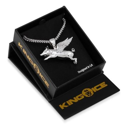 King Ice ネックレス・チョーカー LA発ストリート☆King Ice☆HipHopペンダント Flying Pig(12)