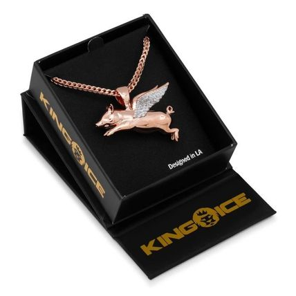 King Ice ネックレス・チョーカー LA発ストリート☆King Ice☆HipHopペンダント Flying Pig(13)