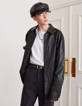 13MONTH★LEATHER LONG SLEEVE SHIRT レザーシャツ
