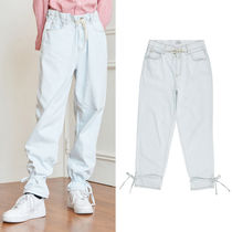 ★13MONTH★日本未入荷 韓国 パンツ STRING WASHING DENIM PANTS