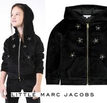Little Marc Jacobs☆ベロアフーディ・黒(2-12Y)2019AW