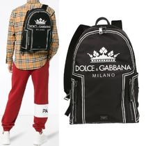 【Dolce & Gabbana】Heritage Crown Backpack ブラック