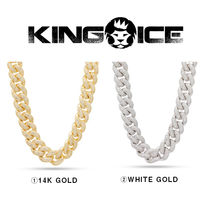 【King Ice】☆人気☆18mm Iced Link Miami Cuban Chain