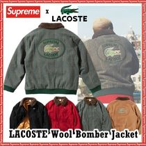 Supreme LACOSTE Wool Bomber Jacket  AW 19 FW 19 WEEK 4