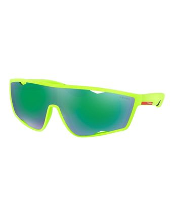PRADA サングラス 【関税・送料無料】Men's Active Shield Sunglasses, Green