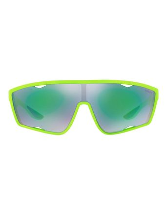 PRADA サングラス 【関税・送料無料】Men's Active Shield Sunglasses, Green(2)