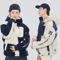 ★ROMANTIC CROWN★韓国 ジャケット HEAVY LAYOUT FLEECE JUMPER