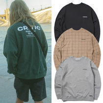 ★CRITIC★日本未入荷 トレーナー BACKSIDE LOGO SWEATSHIRT 4色