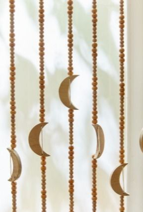 Urban Outfitters カーテン UrbanOutfitters☆Crescent Beaded Curtain☆ビーズカーテン☆N(2)
