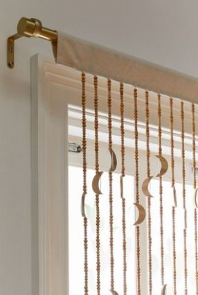 Urban Outfitters カーテン UrbanOutfitters☆Crescent Beaded Curtain☆ビーズカーテン☆N(3)