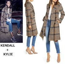注目☆KENDALL+KYLIE ウールコート♪Plaid Double Breasted Coat
