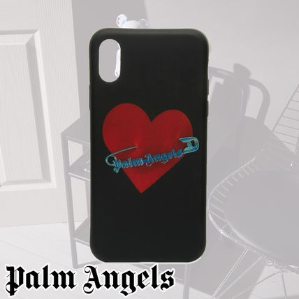 Palm Angels スマホケース・テックアクセサリー Palm Angels☆PIN MY HEART IPHONE X CASE ハートがCOOL!